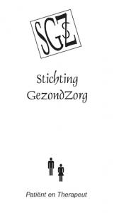 Folder Stichting GezondZorg